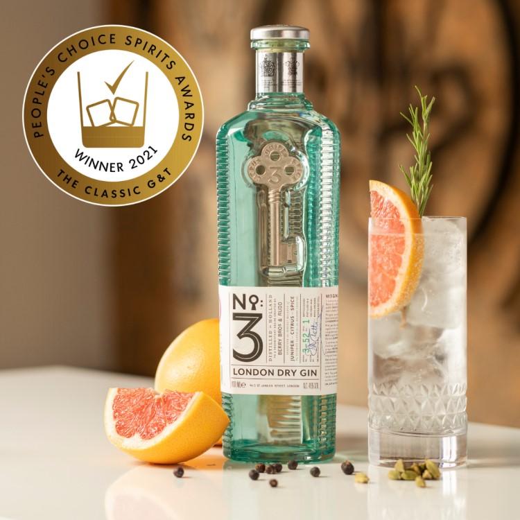 倫敦三號琴酒 獲消費者盲測Gin & Tonic大獎